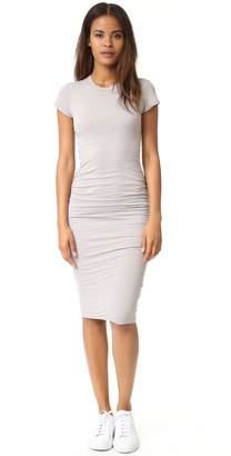 James Perse Short Sleeve Skinny Dress $225 thestylecure.com