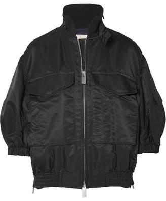 Sacai Oversized Shell Bomber Jacket - Black