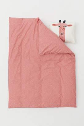 H&M Patterned Duvet Cover Set - Pink