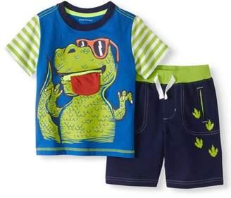 Healthtex Toddler Boy 3D Interactive T-Shirt & Knit Shorts, 2pc Outfit Set