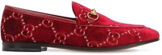 Gucci 10mm Jordan Gg Supreme Velvet Loafers
