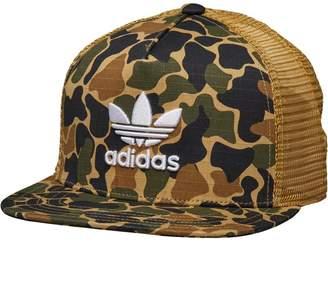 adidas Camouflage Trucker Snapback Cap Dark Sahara