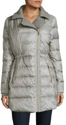 Catherine Malandrino Faux Fur-Trimmed Puffer Jacket
