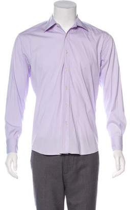Prada Woven Button-Up Shirt