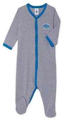 Petit Bateau Grey Stripe Onesie