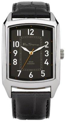 Ben Sherman (ベン シャーマン) - ベンシャーマンMen 's Quartz Watch with Black DialアナログDisplay and Black PUストラップbs027