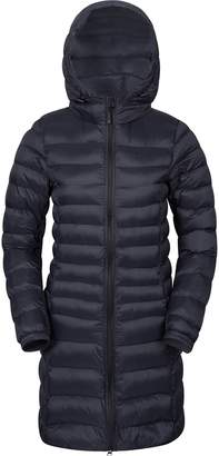 Warehouse Mountain Florence Women's Long Padded Jacket - Water-Resistant, Lightweight Microfiber Filler with Two Front Pockets - Perfect for Light Showers