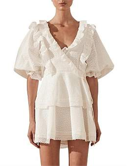 Shona Joy Ackley Puff Sleeve Mini Dress