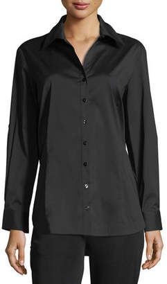 Misook Long-Sleeve Button-Front Shirt, Plus Size