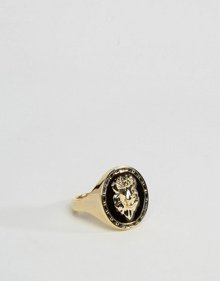 Lion Head Sovereign Ring