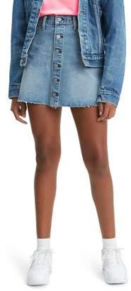 Levi's Button Front Cutoff Miniskirt