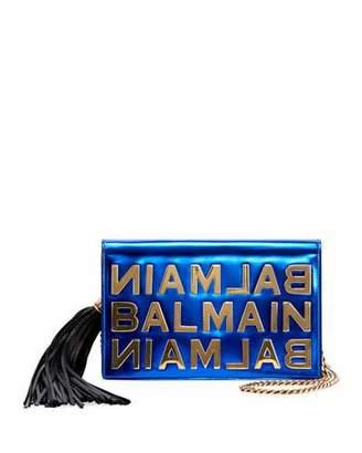 Balmain Mirror Leather Pochette Crossbody Bag