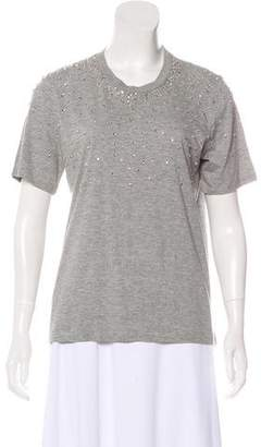 Markus Lupfer Embellished Short Sleeve Top