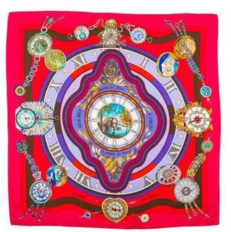 Hermes Parmi Les Fleurs Silk Scarf