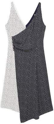 MANGO Wrap contrasted bodice dress