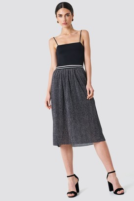 Rut & Circle Rut&Circle Glitter Pleat Skirt Grey