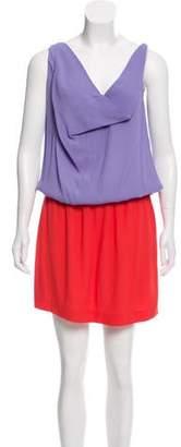 Diane von Furstenberg Dual Tone Sleeveless Dress
