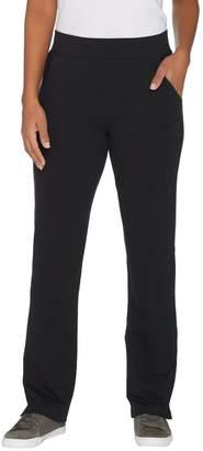 Denim & Co. Active Petite Knit Pants with Mesh Trim