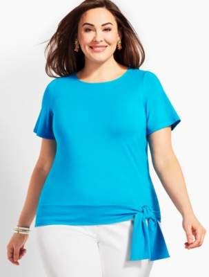 Talbots Side-Tie Crewneck Topper