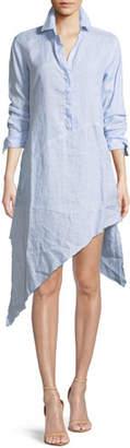 Frank And Eileen Drake Long-Sleeve Linen Shirtdress