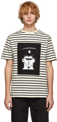J.W.Anderson Off-White and Navy GandG Policeman T-Shirt