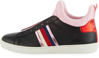 Gucci New Ace Lace High-Top Sneakers