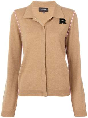 Rochas logo fitted cardigan
