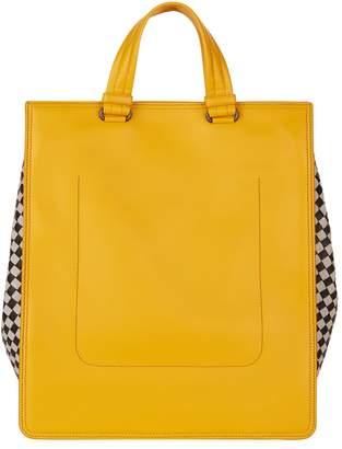 Bottega Veneta Leather Chequered Tote Bag
