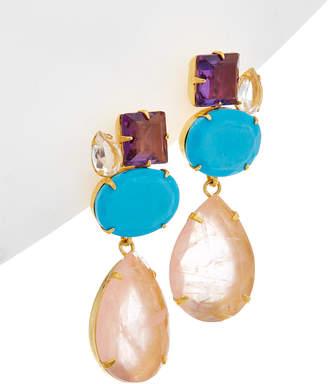 Bounkit 14K Plated Drop Earrings