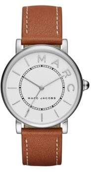 Marc Jacobs Analog Classic Tan Leather Strap Watch
