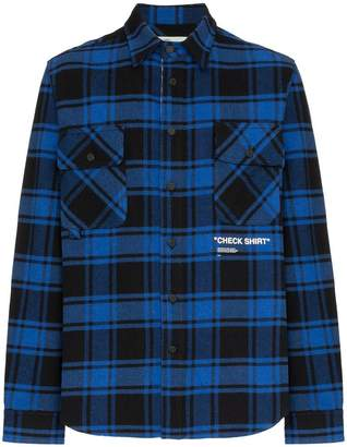 Off-White Quote check shirt