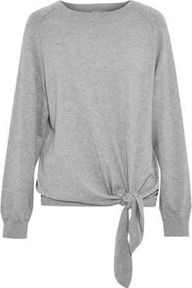 Vince Tie-Front Mélange Cotton Sweater
