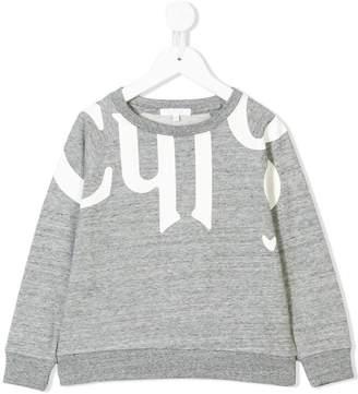Chloé Kids logo print sweatshirt