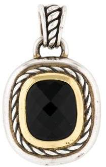 David Yurman Two-Tone Onyx Albion Enhancer Pendant