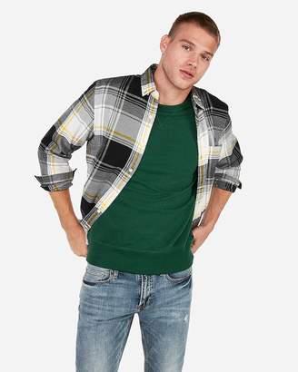 Express Slim Plaid Flannel Button-Down Shirt