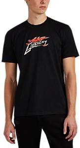 Givenchy Men's Flame Logo Cotton Jersey T-Shirt - Black