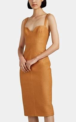 MANNING CARTELL Women's Golden Ticket Cloqué Bustier Dress - Camel