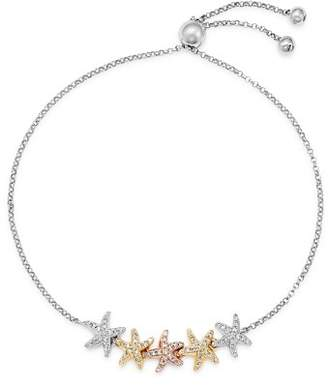 Bloomingdale's Diamond Starfish Bolo Bracelet in 14K Rose, Yellow & White Gold, 0.25 ct. t.w. - 100% Exclusive