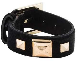 Fallon Pony Hair Pyramid Strap Bracelet