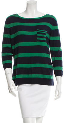 Autumn Cashmere Striped Knit Top w/ Tags $75 thestylecure.com