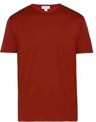 Sunspel Classic Crew Neck Cotton T Shirt - Mens - Red