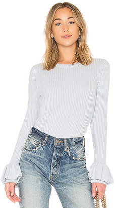 Derek Lam 10 Crosby Ruffle Sleeve Sweater