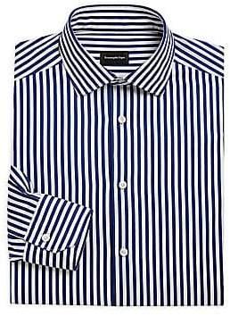 Ermenegildo Zegna Men's Stripe Cotton Button-Down Shirt