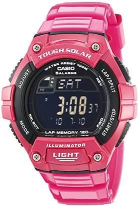 """Casio Women's W-S220C-4BVCF""""Tough Solar"""" Digital Watch"""