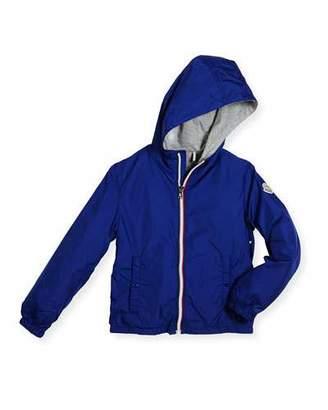 Moncler New Urville Zip-Front Raincoat, Size 2-3