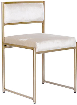 Ave Home Carlyle Side Chair - Ivory Velvet