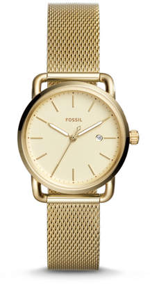 Fossil The Commuter Three-Hand Date Gold-Tone Stainless Steel Watch