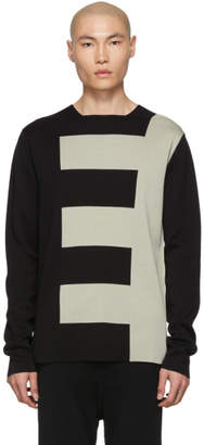 Rick Owens Black and Grey Biker Level Sweater