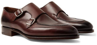 Edward Green Fulham Leather Monk-Strap Shoes