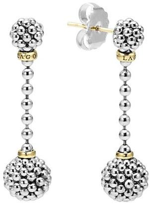 Women's Lagos Caviar Lattice Ball Drop Earrings $450 thestylecure.com
